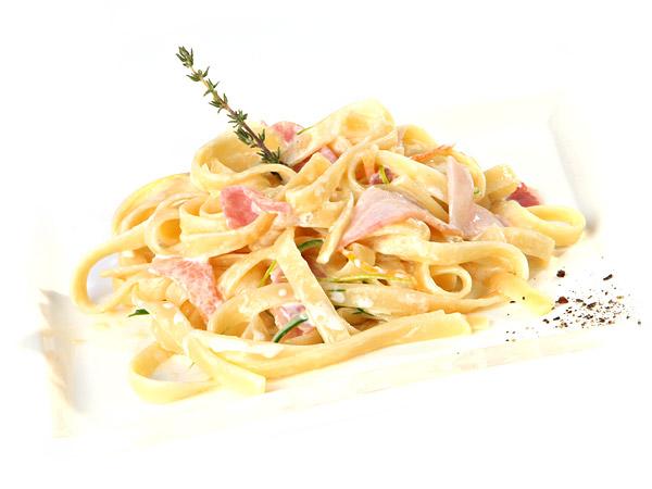 Спагетти со сливкамиы